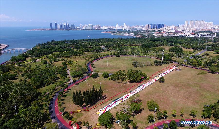 Flower carpet set to celebrate 70th anniversary of PRC founding in China's Hainan