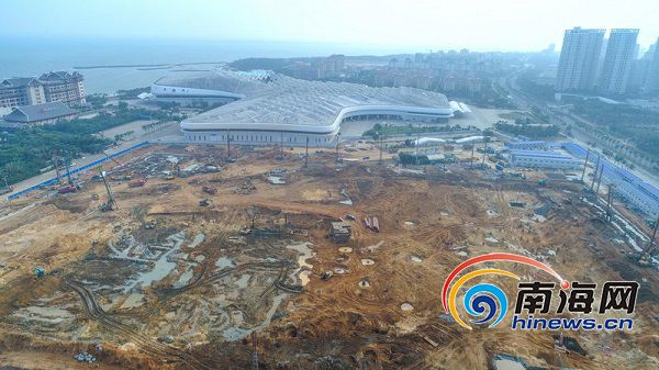 组图 海南国际会展中心二期项目加快建设总投资20.19亿元