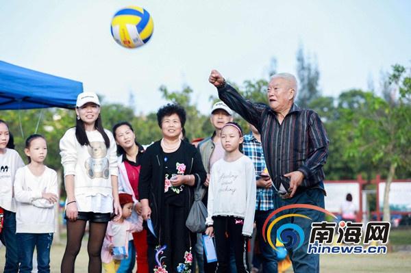 迎春沙滩气排球文化活动海口举行近千名市民参与