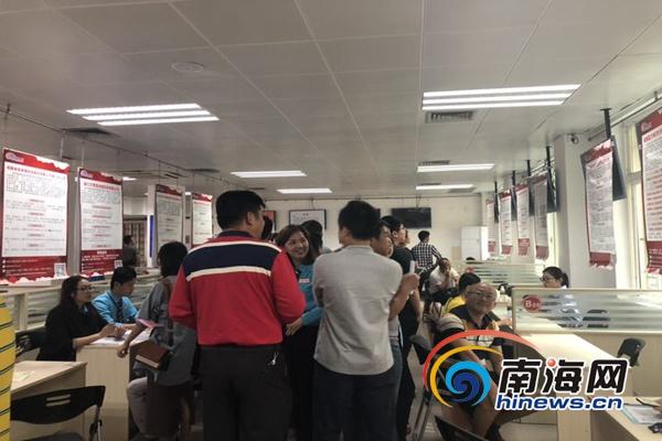 海南节后首场招聘会供需两旺提供岗位339个3岗位月薪上万