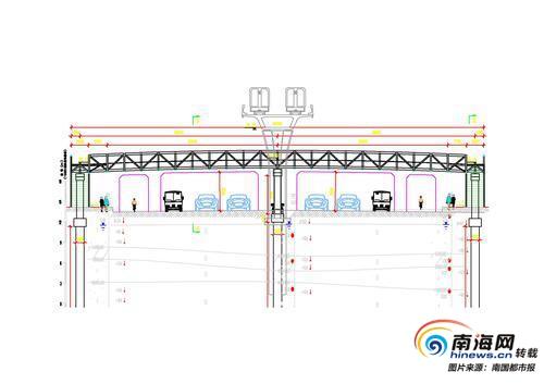 过街通行更方便!海口南海大道首座铝合金人行天桥来了