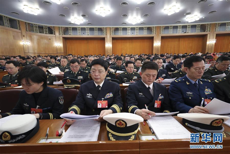 (两会·人大开幕·XHDW)(9)十三届全国人大二次会议在京开幕