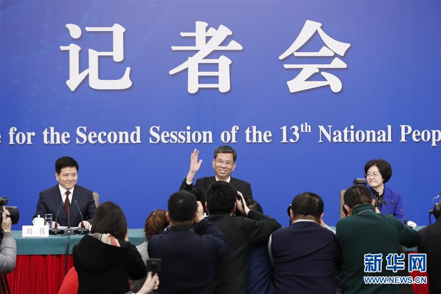 """(两会·XHDW)(2)财政部部长刘昆等就""""财税改革和财政工作""""答记者问"""