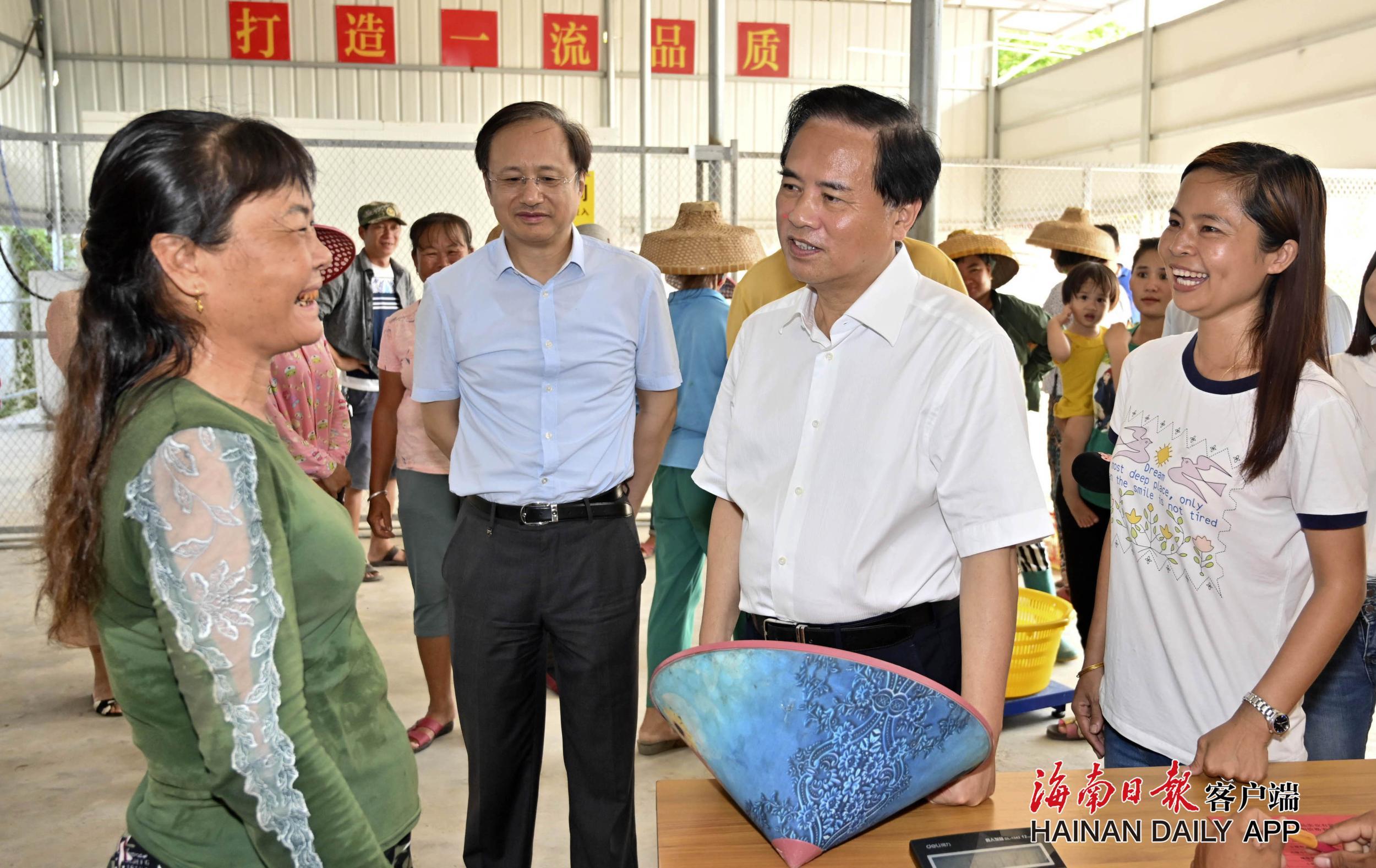 刘赐贵在乐东调研村级集体经济发展