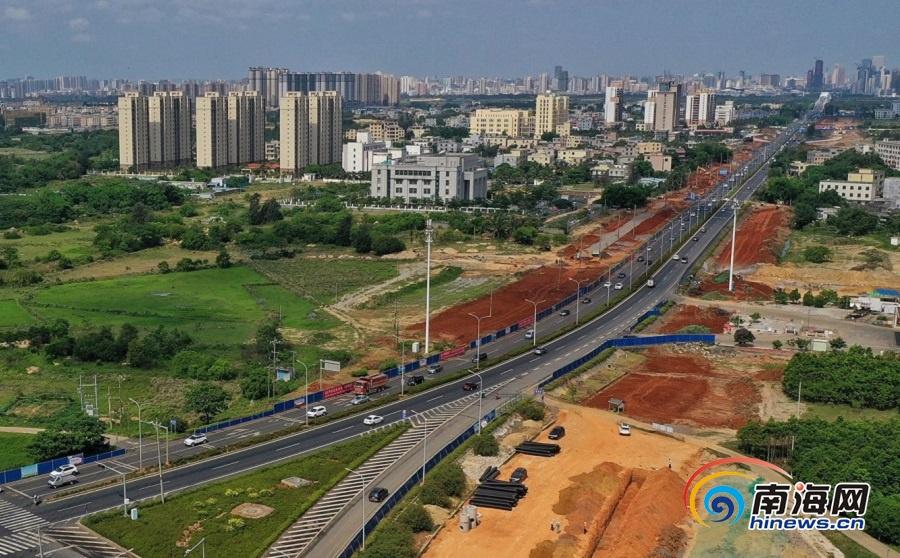 组图丨海口白驹大道改良及东延长线项目加紧施