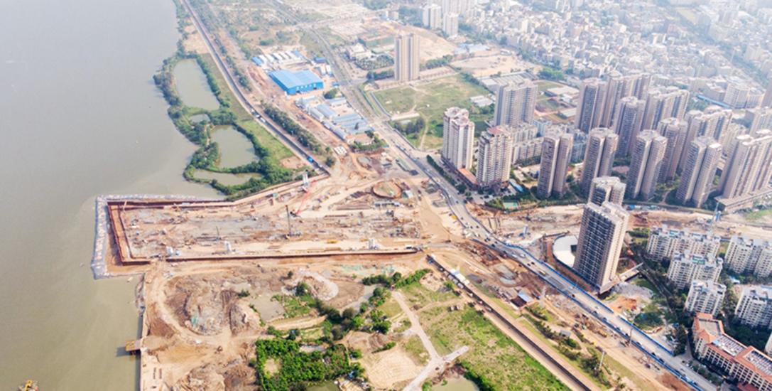 拍客 | 壮观!高空俯瞰海口文明东越江通道项目
