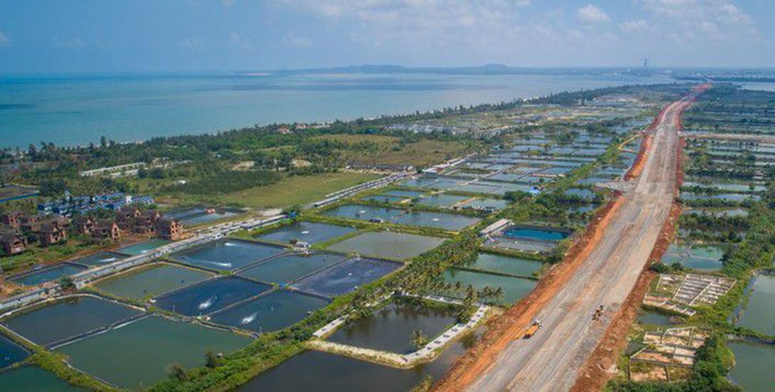 瞰海南|航拍海口江东大道二期 整体工程进度超85%