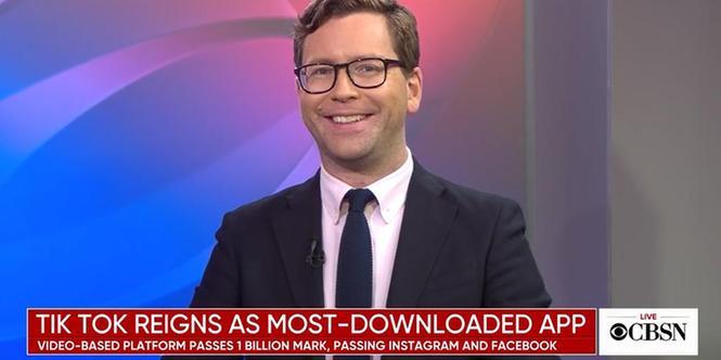 """美媒CBS播出主题节目讨论""""TikTok崛起"""""""