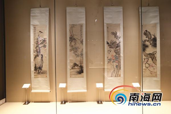 """""""海上画派""""精品展在海南省博物馆举行 展出60余件精品"""