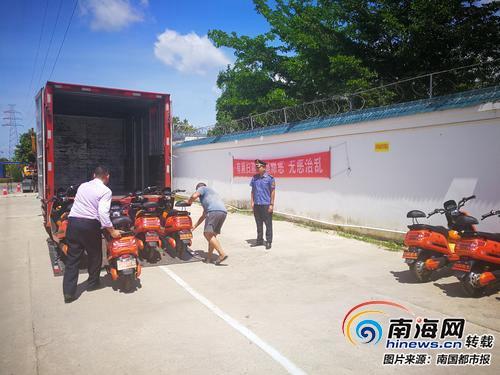 """三亚共享电单车又""""露头"""" 交通部门:已责令涉事公司立即清理"""