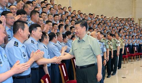 习近平接见空军第十三次党代会代表