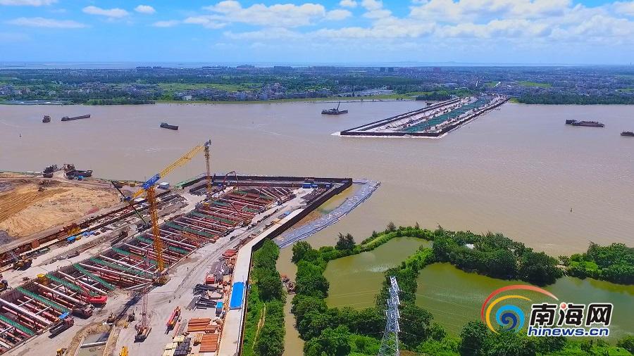 海口越江通道项目稳步推进 累计完成产值7个亿