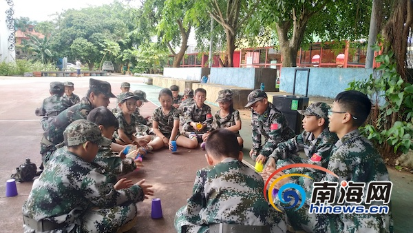 南海网海岛军事励志成长营第一周:小学员从爱