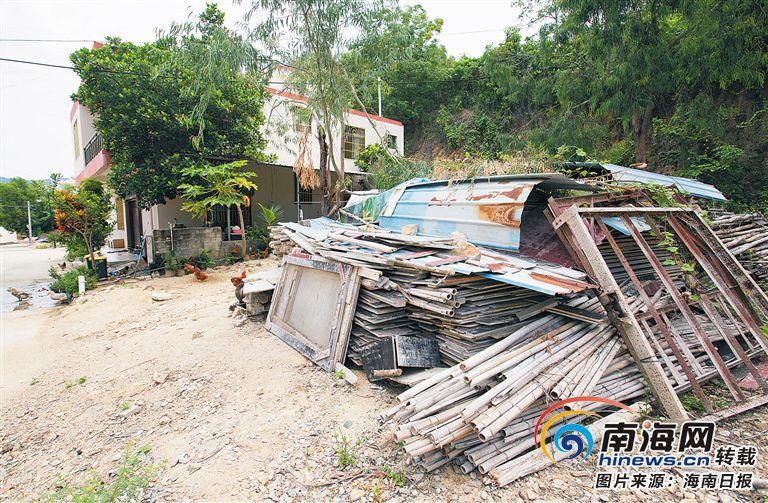 三亚吉阳区安罗村: 粗放养殖存隐患 杂物堆积污村貌