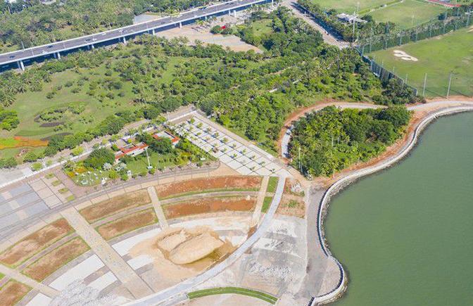 瞰海南 | 航拍海口湾畅通工程 项目建设加速推进