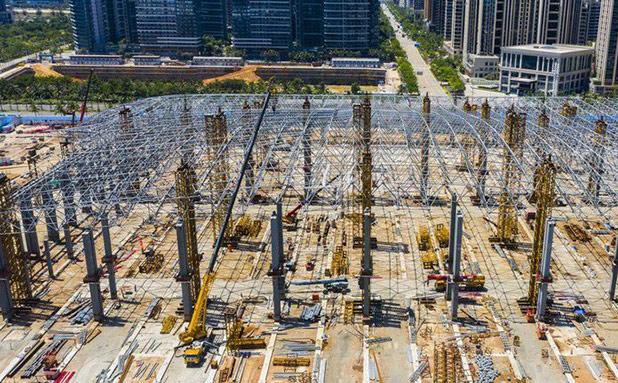 瞰海南 | 海南国际会展中心二期建设进度已过半 预计年底投用