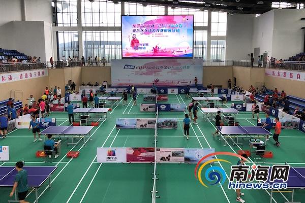 2019海南省业余乒乓球公开赛乐东举办世界冠军刘伟前来助阵-乐东新闻网-南海网