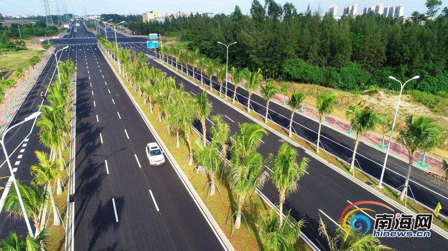 組圖丨海口江東新區椰海大道延長線全線通車,出行更方便了!