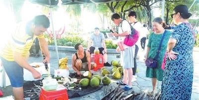 国庆假期三亚举办爱心扶贫集市消费活动 两天销售额达4.8万元