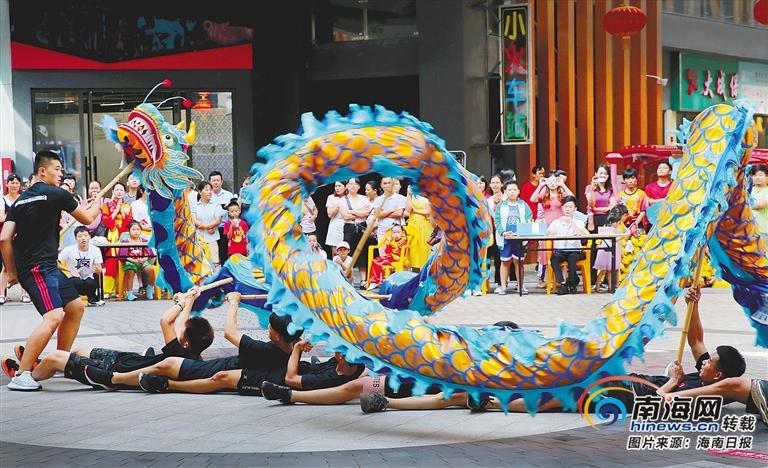 海南舞龙舞狮公开赛开赛 18个市县的25支代表队同台竞技