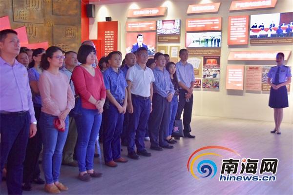 海口市自然资源和规划局组织党员干部参观海南省反腐倡廉警示教育基地