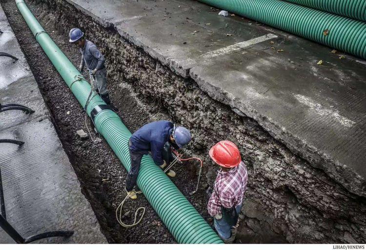 """秀英区全力推动农村生活污水治理工作,让群众乐享""""生态红利"""""""