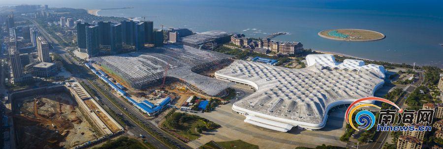 海南國際會展中心二期項目結構部分基本完工
