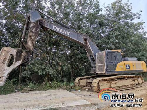 儋州一公司花178万元买的挖掘机突然停转 发动机被人加白糖不能保修