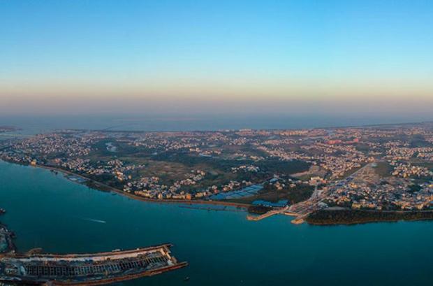500米高空瞰海口江东新区是怎样的视觉体验?