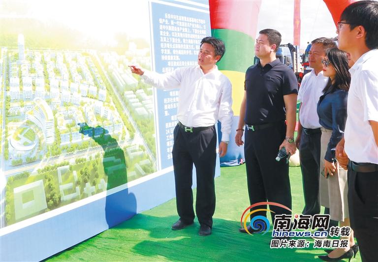 乐东中兴生态智慧总部基地项目吸引全国各地企业代表参观