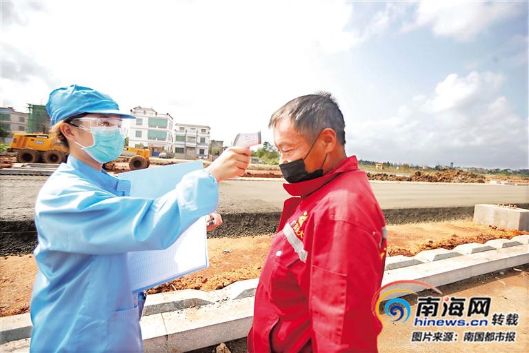抗击疫情·防控 | 防控建设两不误 海口白驹大道施工忙