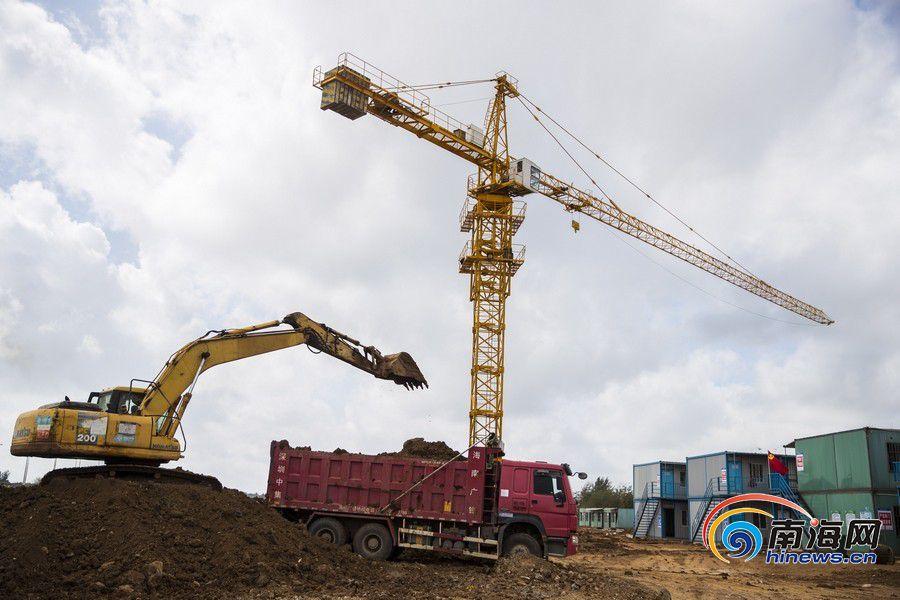 海口江东新区:防疫建设两不误 重点项目施工忙