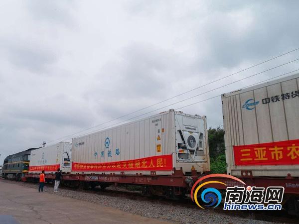 海南首趟冷藏集装箱货物列车运送近400吨物资驰