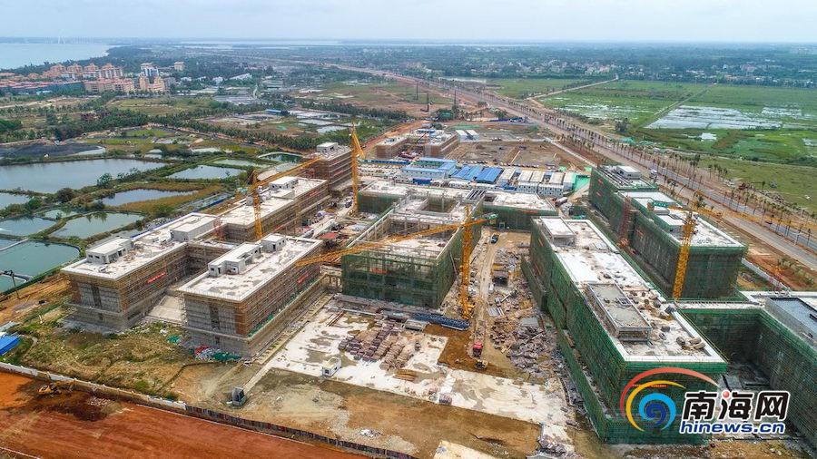 组图丨海口江东新区哈罗公学项目有序推进