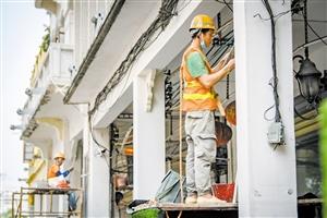 """精细化开展修复保护工作 海口骑楼老街""""修旧如故"""""""