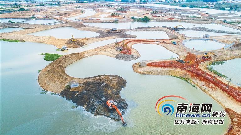 海口江东新区:加速生态修复