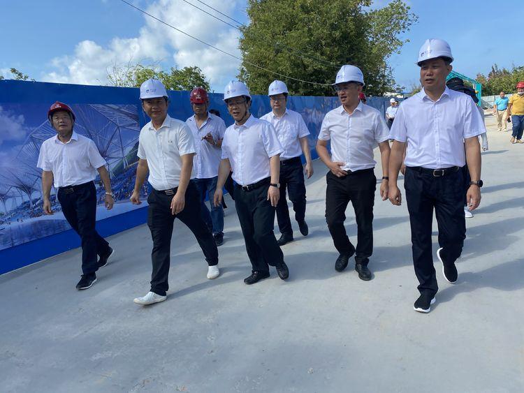 亚沙会 | 三亚市委副书记、市政府代市长包洪文了解亚沙会项目建设情况