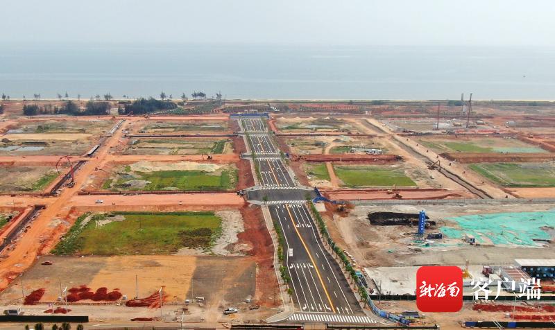 海口江东新区白驹大道东延长线6月底将完工通车