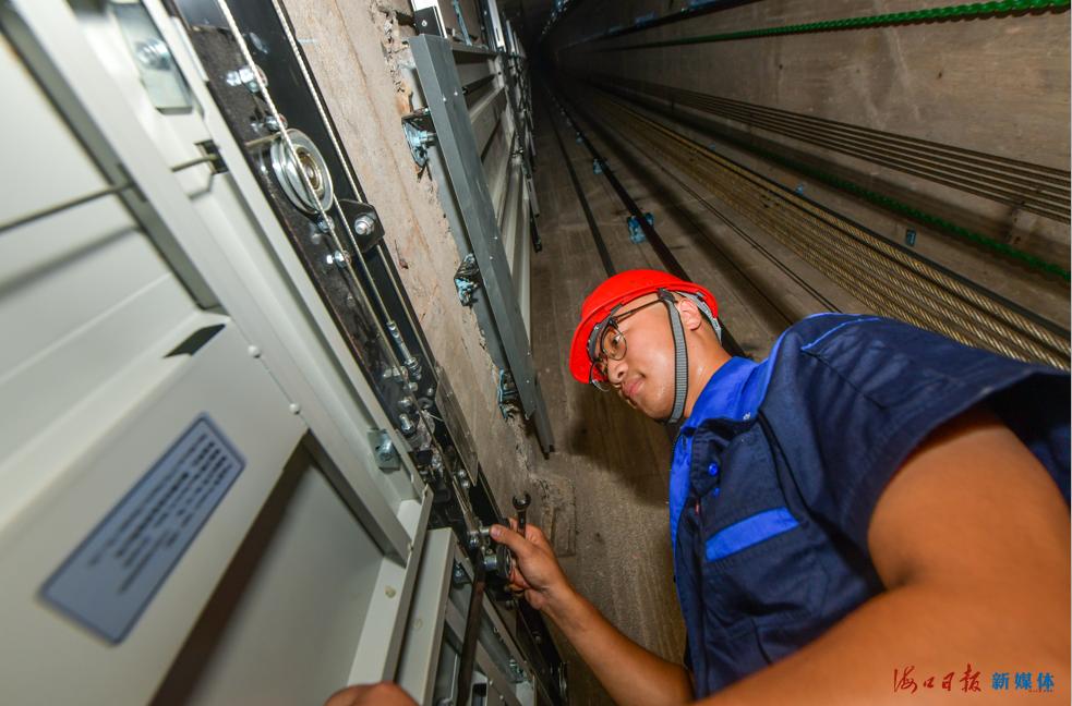 538台新电梯上岗!海口238个小区完成老旧电梯更新改造