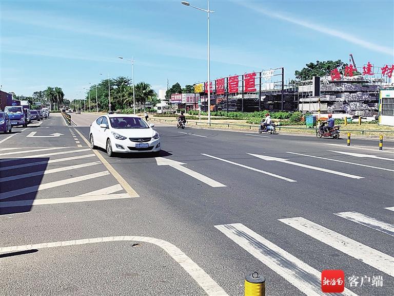 海口丘海大道与椰海大道交会路口:优化路段没装监控 车辆逆行存