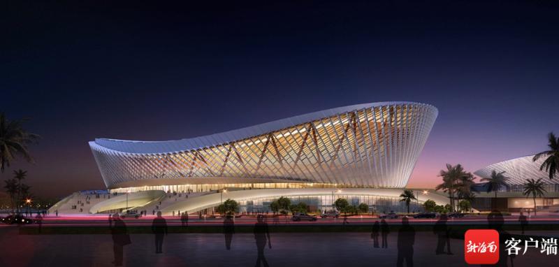 航拍建设中的海口五源河文体中心二期体育馆 将具备举办NBA赛事能力
