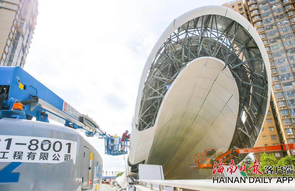海口文明东越江通道将于下半年竣工通车