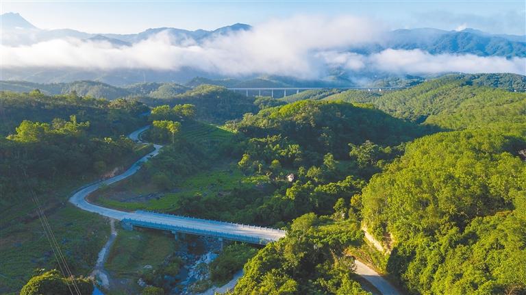 琼中什运乡便文村:乡村公路通向云端