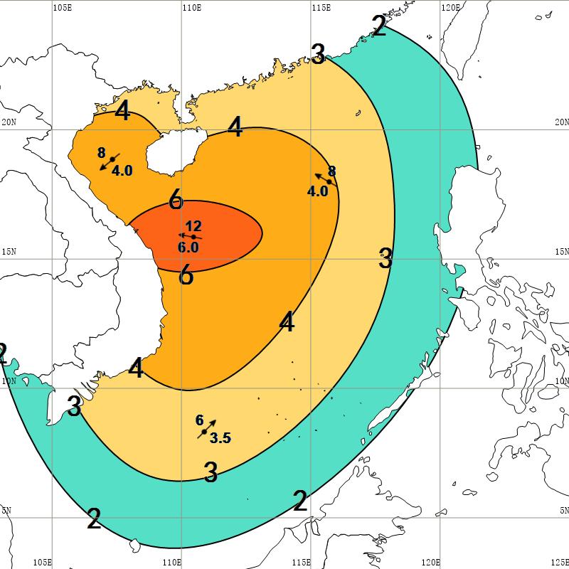 """受台风 """"红霞""""影响 海南多个海域有较大风浪"""