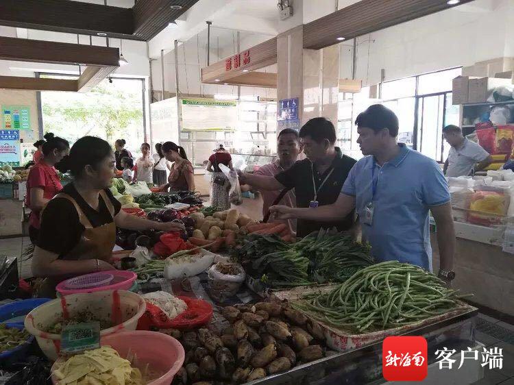 海口市农贸市场已全部建成食用农产品快检室