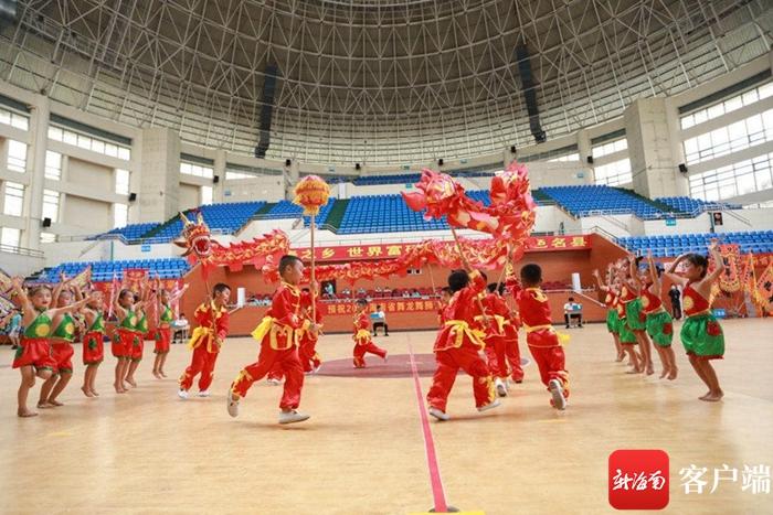 2020年海南省舞龙舞狮公开赛澄迈闭幕