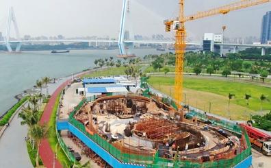 直击海口云洞图书馆施工现场 明年建成将成新地标