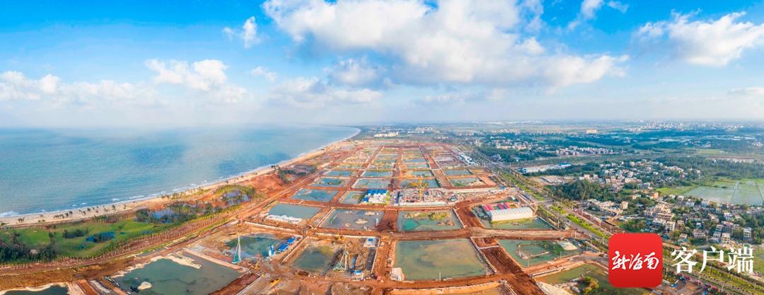 海口江东新区起步区路网建设加速度 有望提前七个月完工