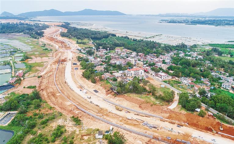 陵水文黎大道延伸线尖岭段预计年底完工