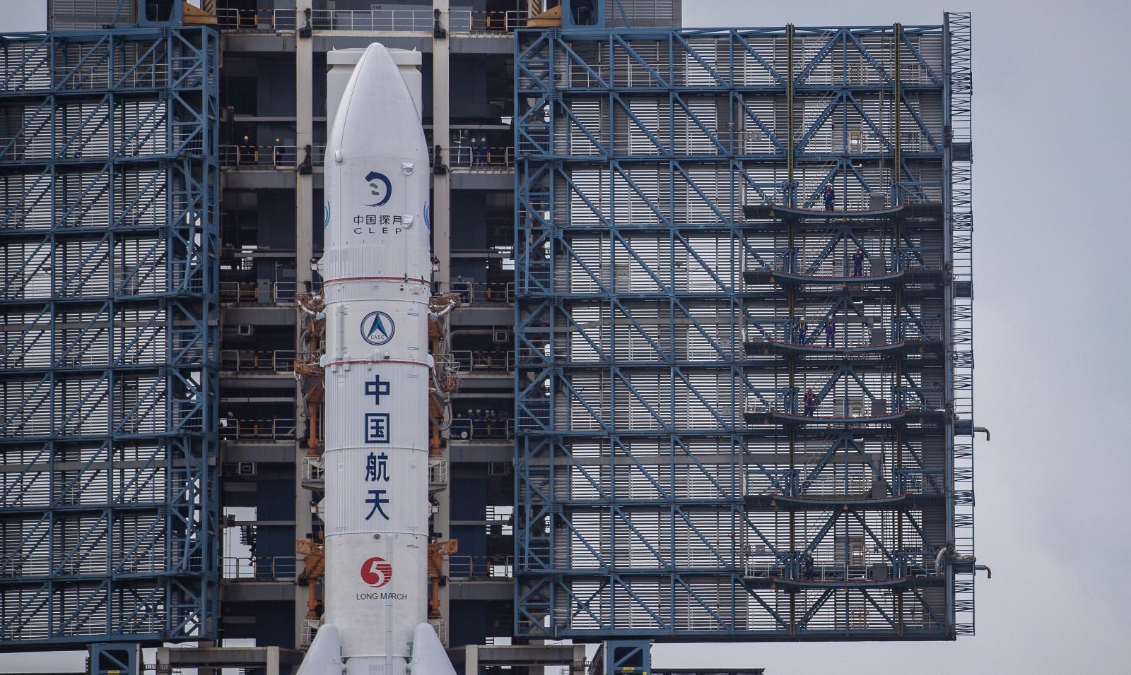 """原创组图 """"长五""""和""""嫦五""""已就位 计划11月下旬在文昌发射"""